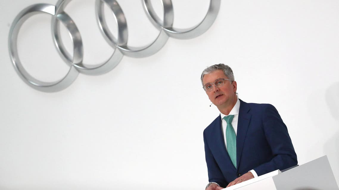Audi CEO Rupert Stadler speaks during the company's annual news conference in Ingolstadt, Germany, on March 15, 2018. (Reuters)
