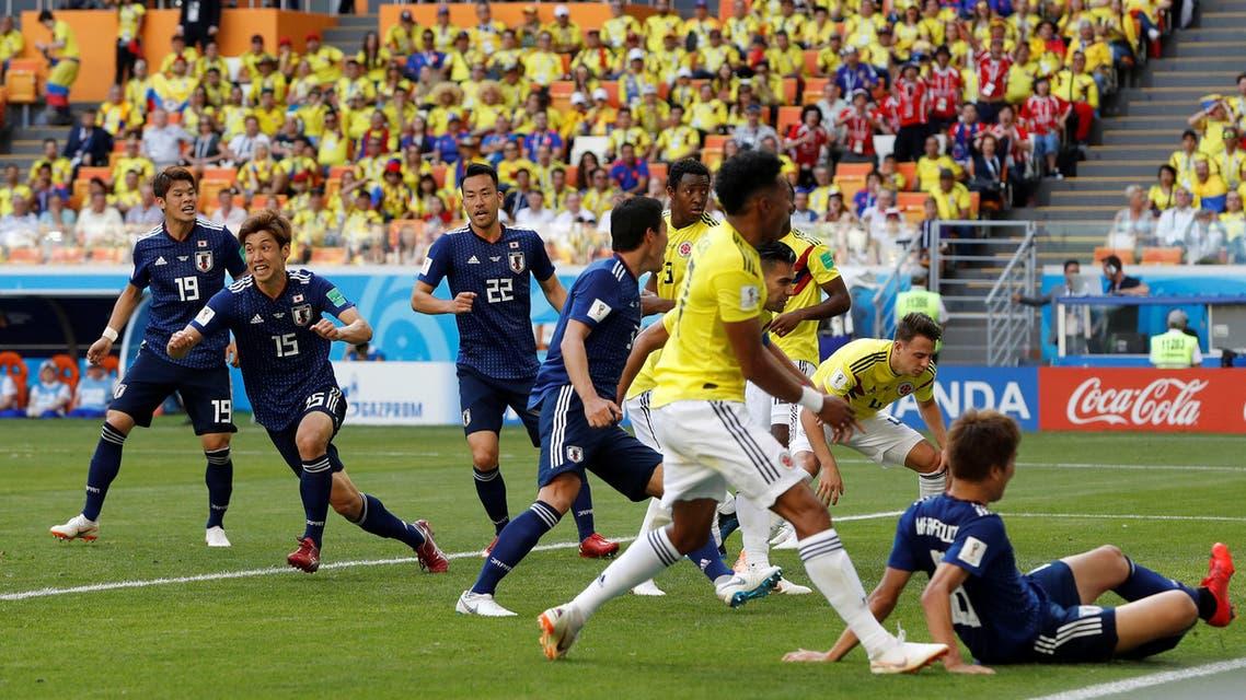 من مباراة اليابان ضد كولومبيا