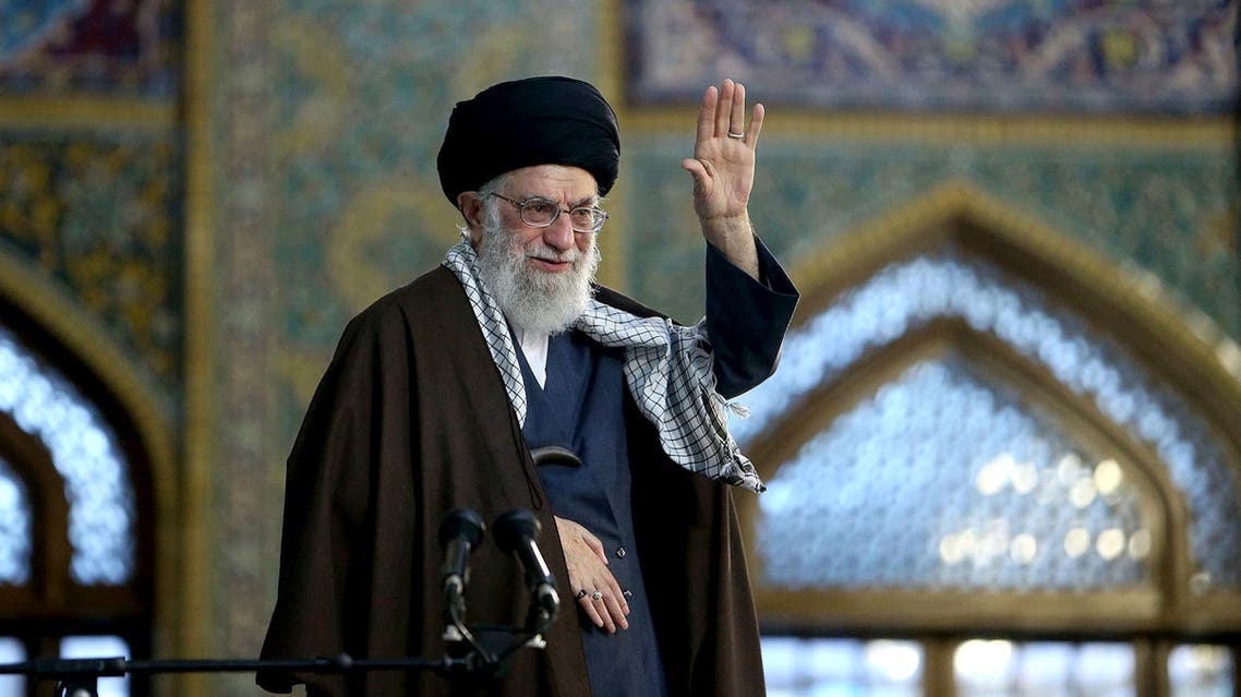 Iranian Supreme Leader Ayatollah Ali Khamenei in Mashhad on March 21, 2018. (AP)