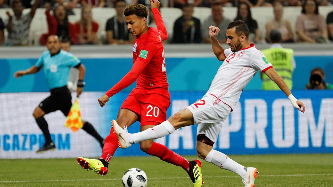 The Tottenham player picked up the knock during the 2-1 win over Tunisia on Monday. (Reuters)