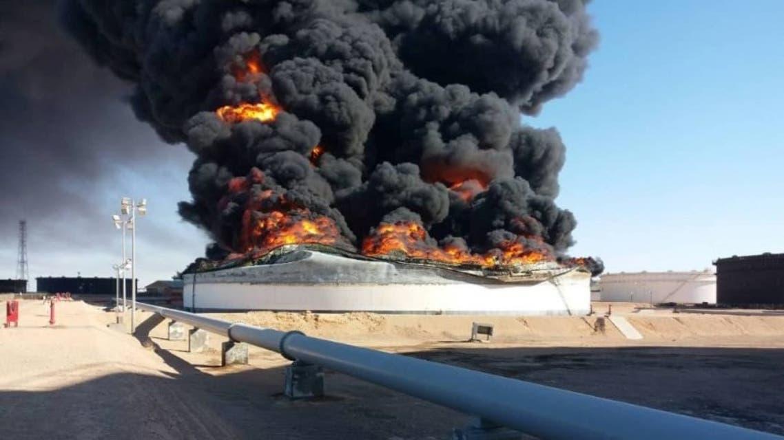 ليبيا نفط اشتعال صهاريج