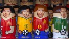 شاهد لعبة ماتريوشكا على هيئة نجوم كأس العالم