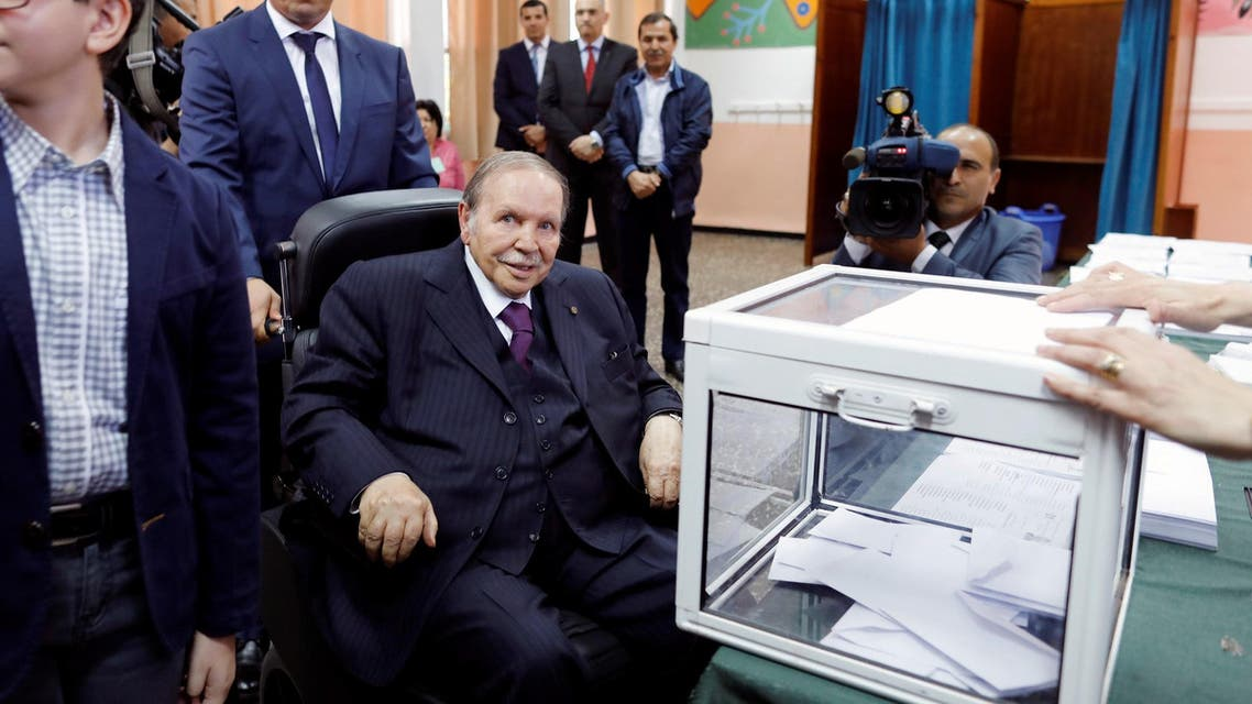 Abdelaziz Bouteflika after casting his ballot in Algiers on May 4, 2017. (Reuters)
