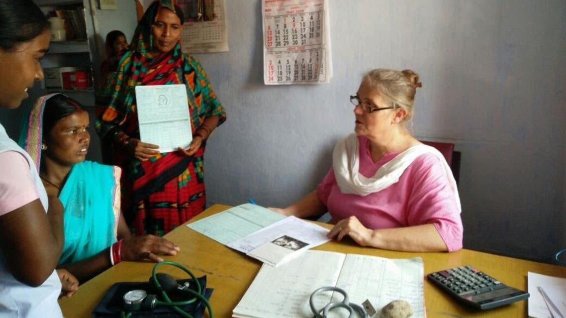 Lindsay Barnes at work in her adopted home in India. (Supplied)
