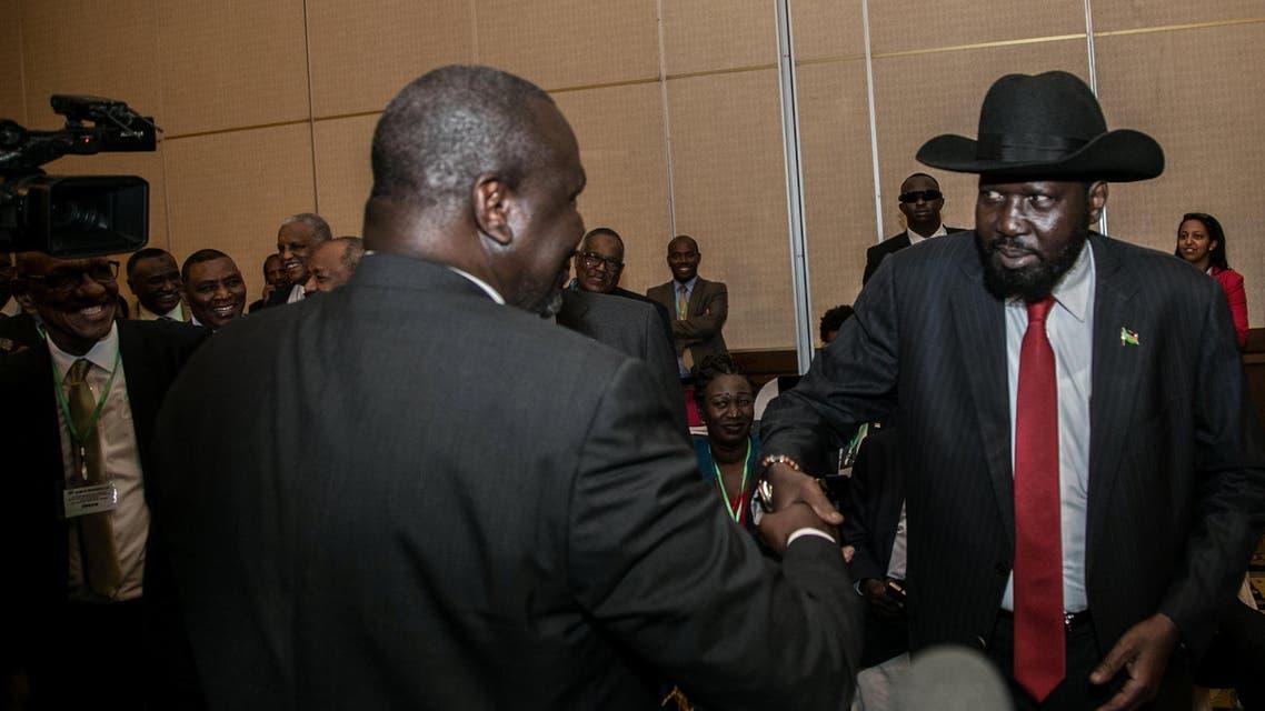 رئيس جنوب السودان سلفاكير التقى زعيم التمرد ريك مشار في أديس أبابا