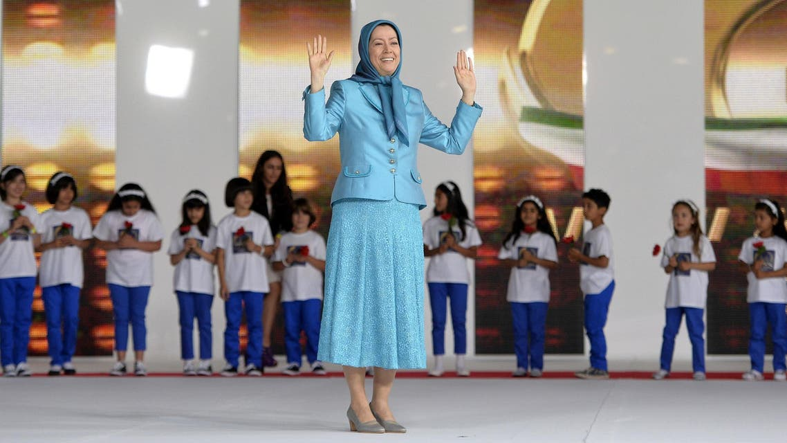 Maryam Rajavi at the annual meeting of the Iranian resistance in Villepinte, near Paris, on June 27, 2014. (AFP)