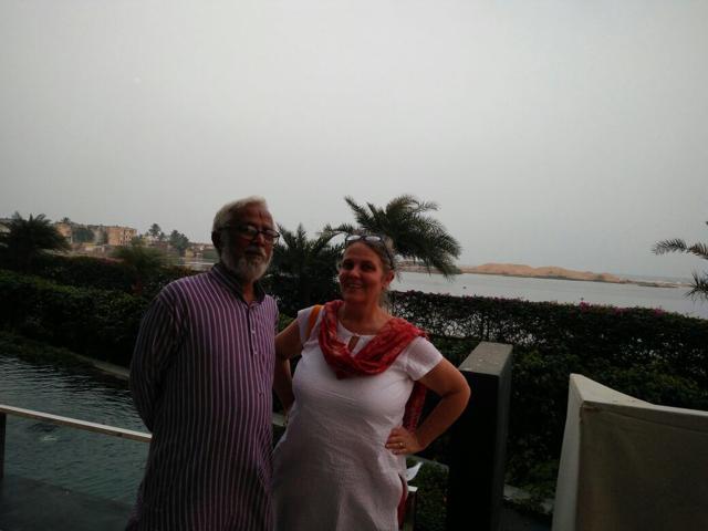 Lindsay Barnes and Ranjan Ghosh prefer social service to an academic career. (Supplied)