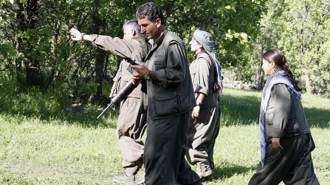 Kurdistan Workers' Party (PKK) rebels walk in the Qandil mountain, the PKK headquarters in northern Iraq. (File photo: AFP)