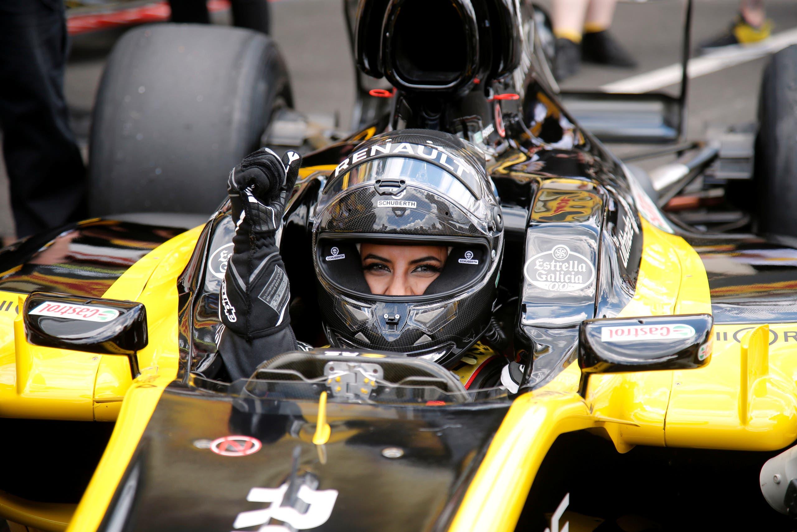 Aseel al Hamad race car driving grand prix. (Reuters)