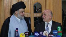 حیدر العبادی اور مقتدیٰ الصدر کا سیاسی اتحاد کا اعلان