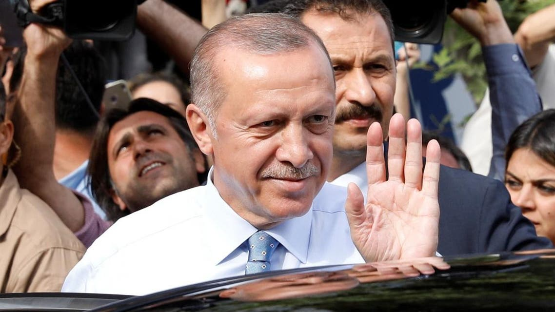 Turkish President Tayyip Erdogan waves to supporters as he leaves his residence in Istanbul. (Reuters)
