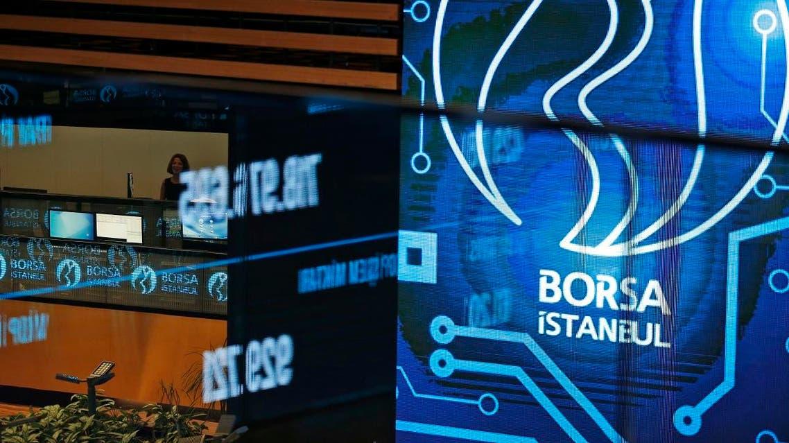 Traders work on the floor of Borsa Istanbul (BIST) stock exchange in Istanbul. (AP)