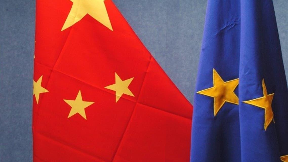 europe-china-flags