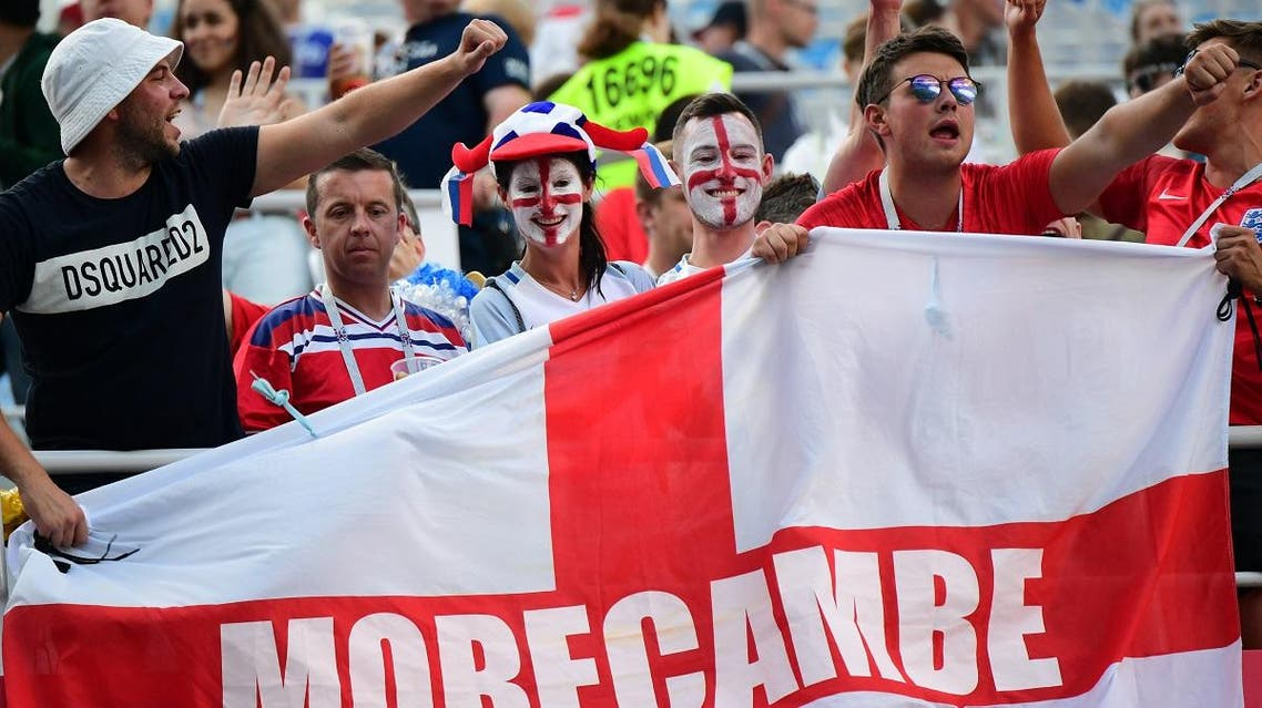 England fans celebrate at the end of the Russia 2018 World Cup Group G football match between England and Panama. (AFP)
