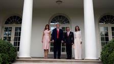Trump cites Middle East progress, hosts Jordan's King Abdullah