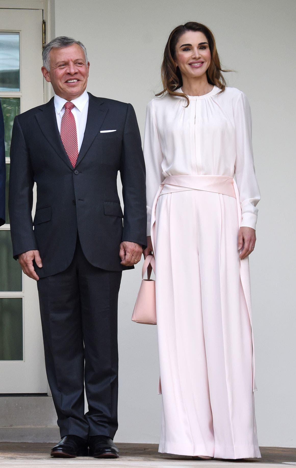 الملكة رانيا والملك عبدالله