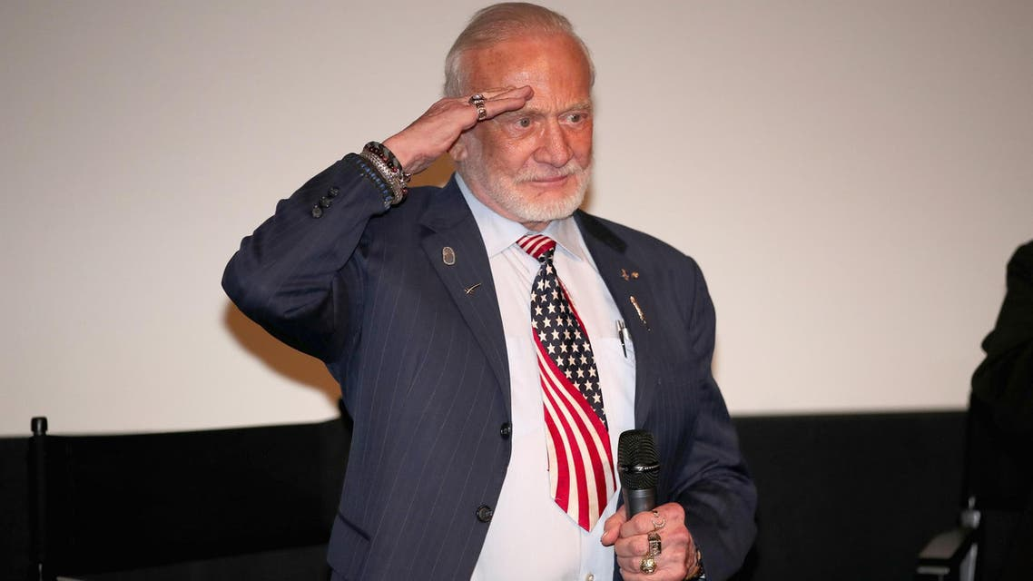 Buzz Aldrin at the premiere of The Man Who Unlocked the Universe in West Hollywood, California, on June 21, 2018. (AFP)