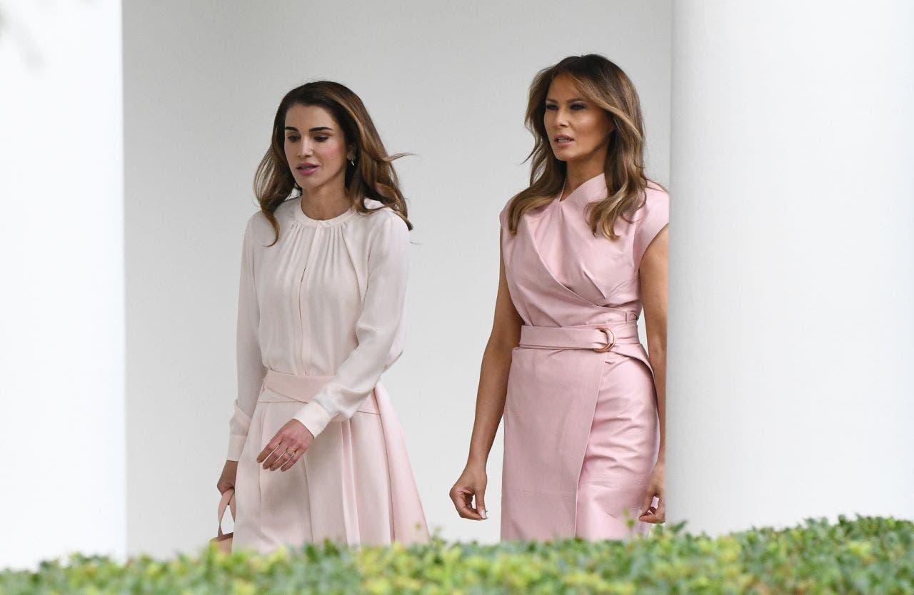 ميلانيا ترمب والملكة رانيا