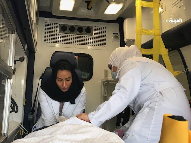saudi women ambulance