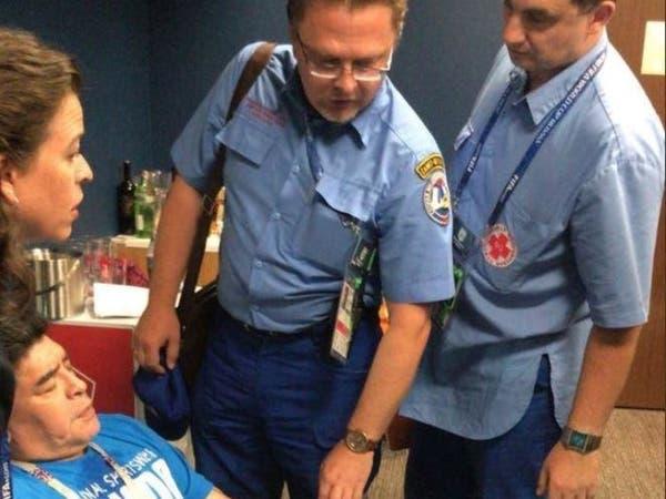 فوز الأرجنتين يرسل أسطورته مارادونا إلى المستشفى