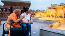 UAE Foreign Minister Abdullah bin Zayed visits Akshardham temple in New Delhi