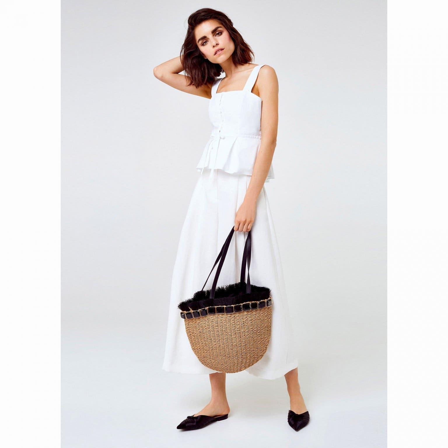 6e1768db66f84 هذه الحقيبة التي كانت حكراً على الرحلات إلى الشاطئ أو الطبيعة الخضراء،  تحوّلت مؤخراً إلى قطعة أساسيّة في خزانة المرأة العصريّة ترافقها في حياتها  اليومية  في ...
