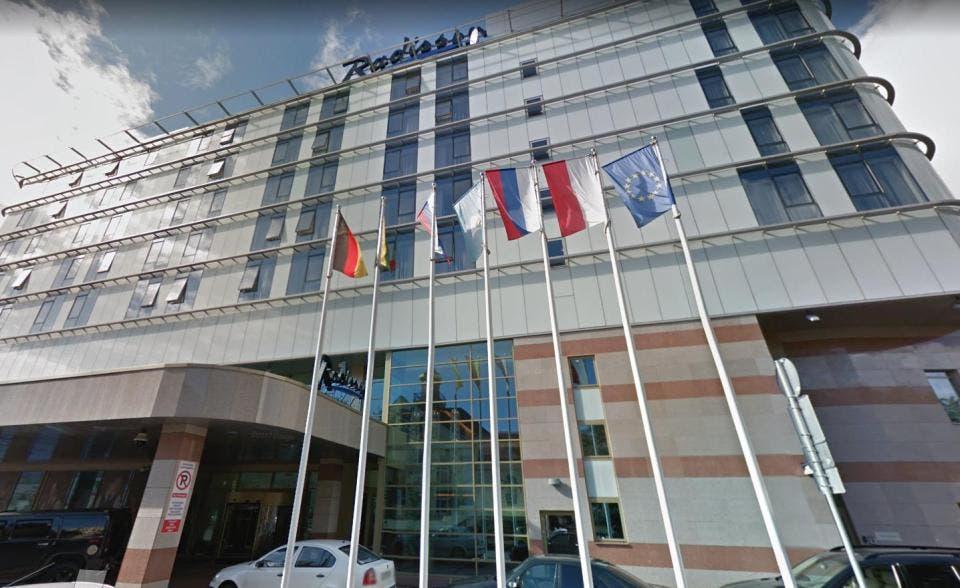 فندق راديسون الذي ستقطن فيه بعثة المنتخب الإنجليزي