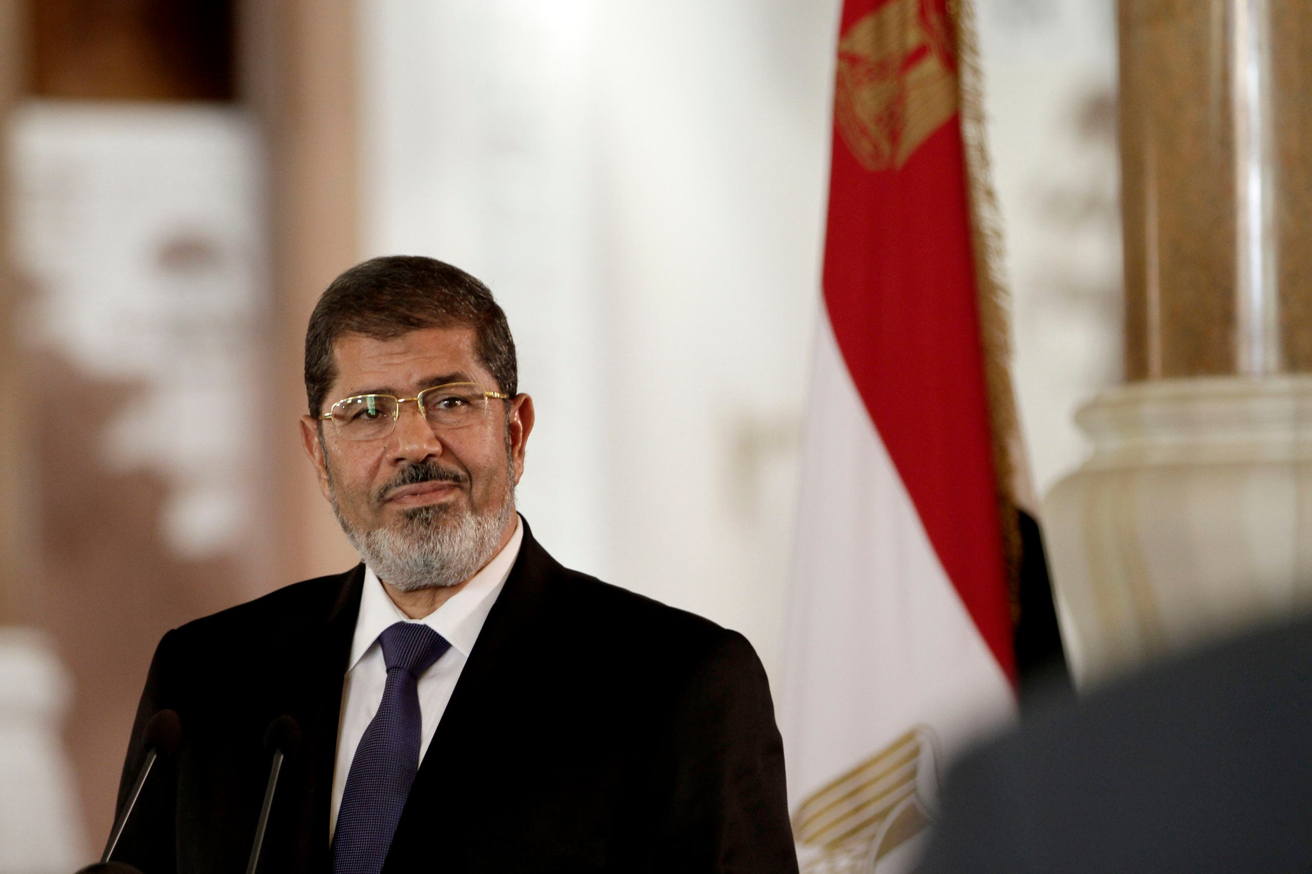 Mohammed Morsi during a news conference in Cairo on July 13, 2012. (AP)