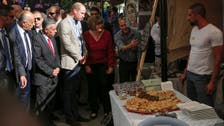 Prince William enjoys falafel, Palestinian cuisine as he tours Ramallah