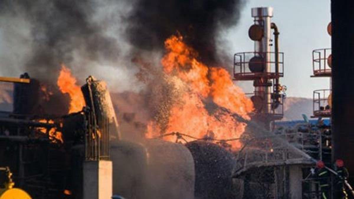 حريق مصفاة نفط بطهران