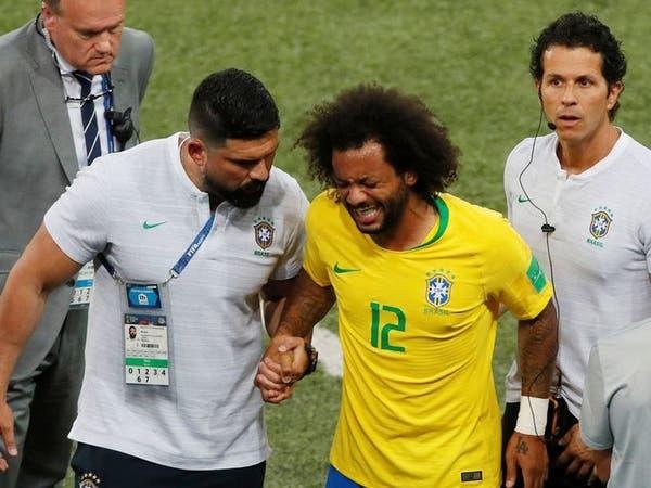 """""""سرير روسي"""" أخرج البرازيلي مارسيلو باكياً أمام صربيا"""