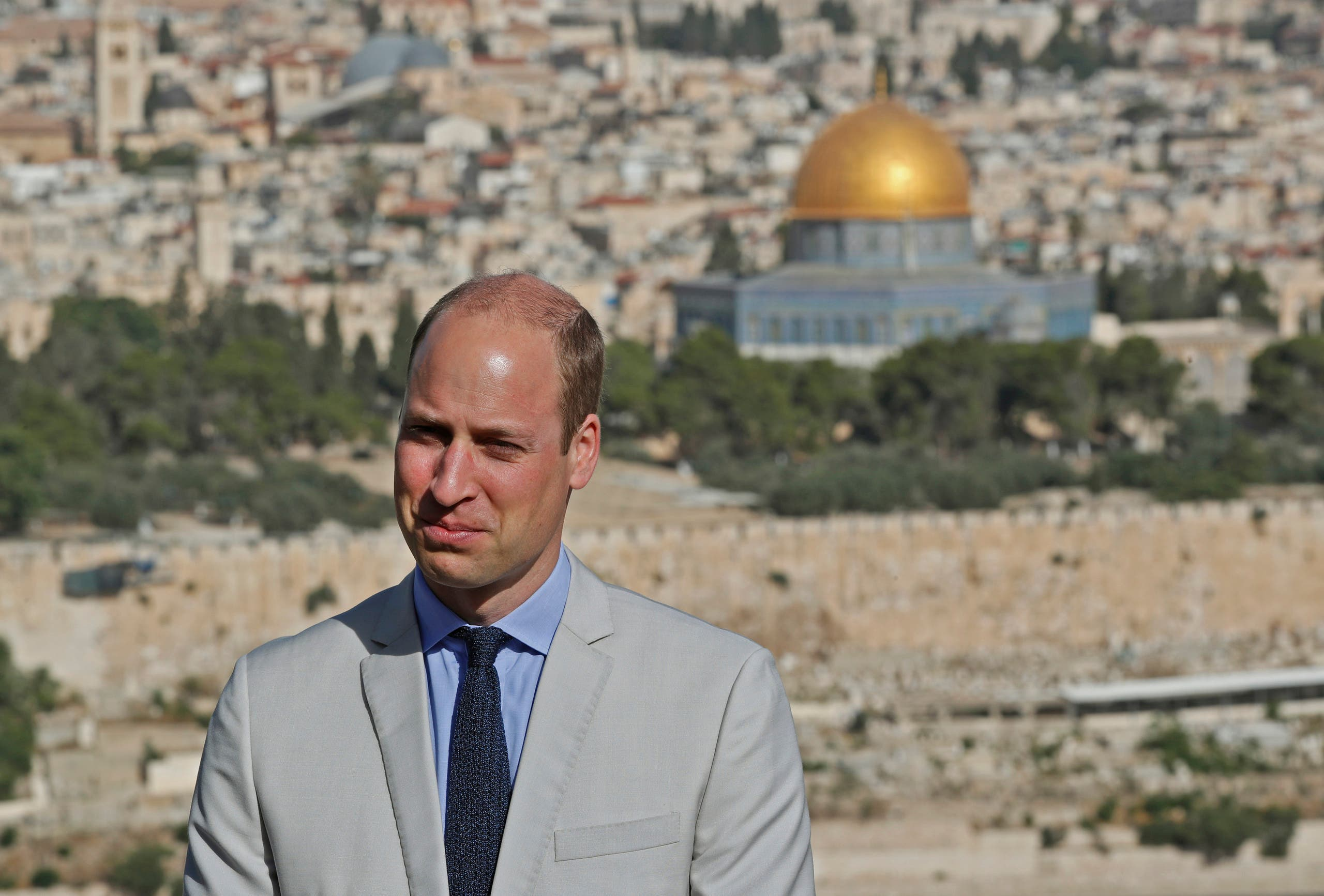 Prince William Jerusalem. (AP)