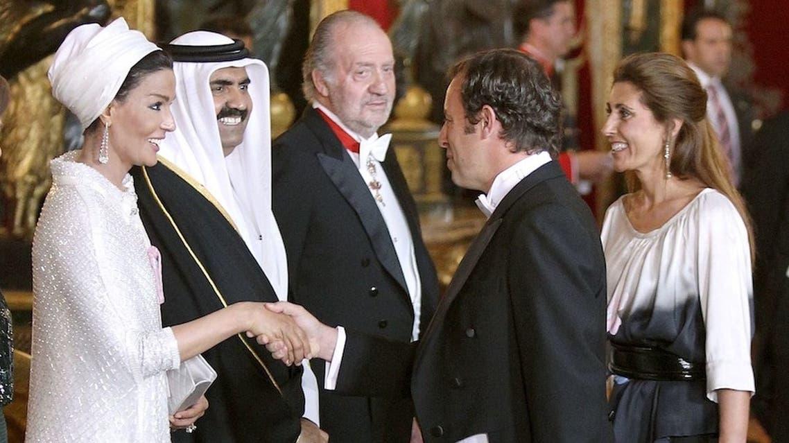 ساندرو روسيل مع أمير قطر السابق
