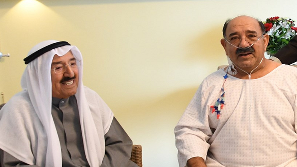 Kuwait emir Sabah and son. (Supplied)