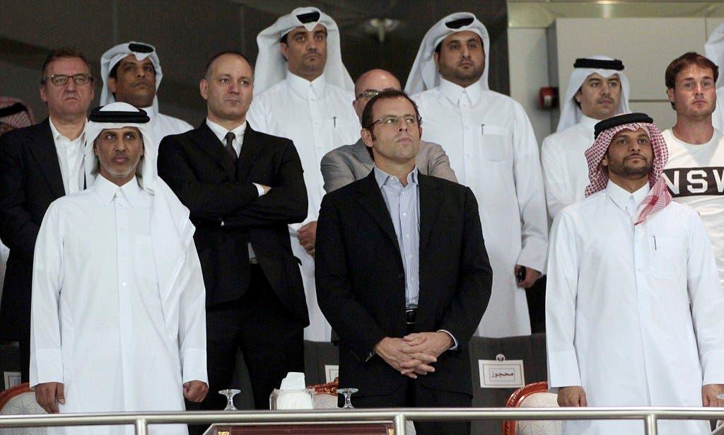 روسيل خلال حضوره مباراة سابقة في قطر