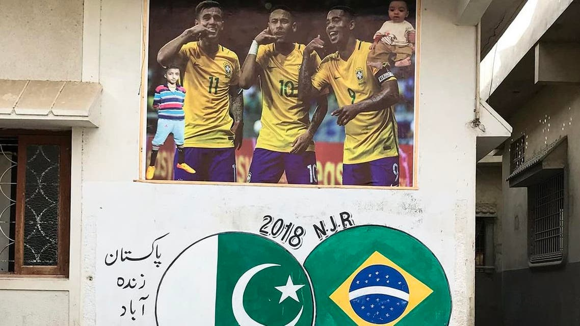 M Bilal Hassan wanted to see firsthand how people in Lyari celebrated the arrival of the 2018 FIFA World Cup. (Instagram)