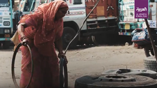 VIDEO: 60-year-old Indian woman truck mechanic says she is 'quite comfortable'