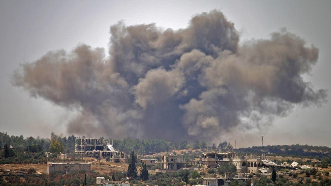 من القصف على درعا في 28 يونيو 2018