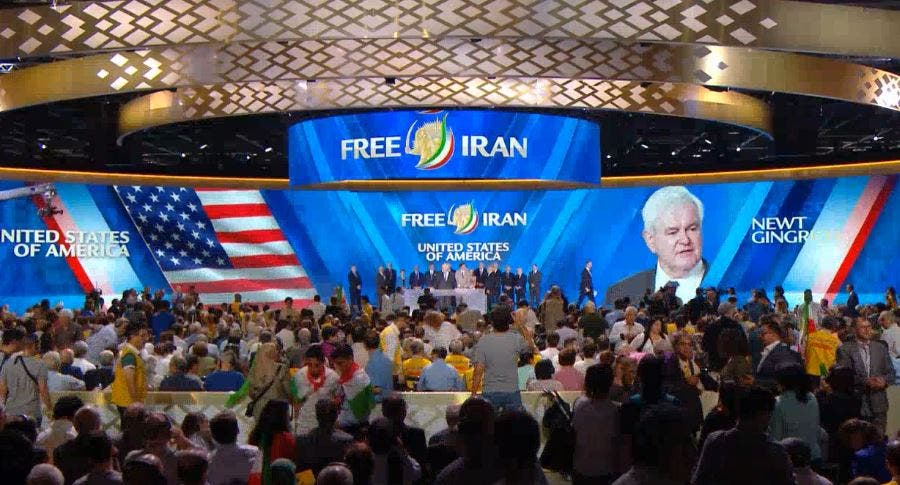 Gingrich free iran conference