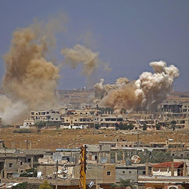 رغم بدء مفاوضات المعارضة وروسيا.. النظام يواصل قصف درعا