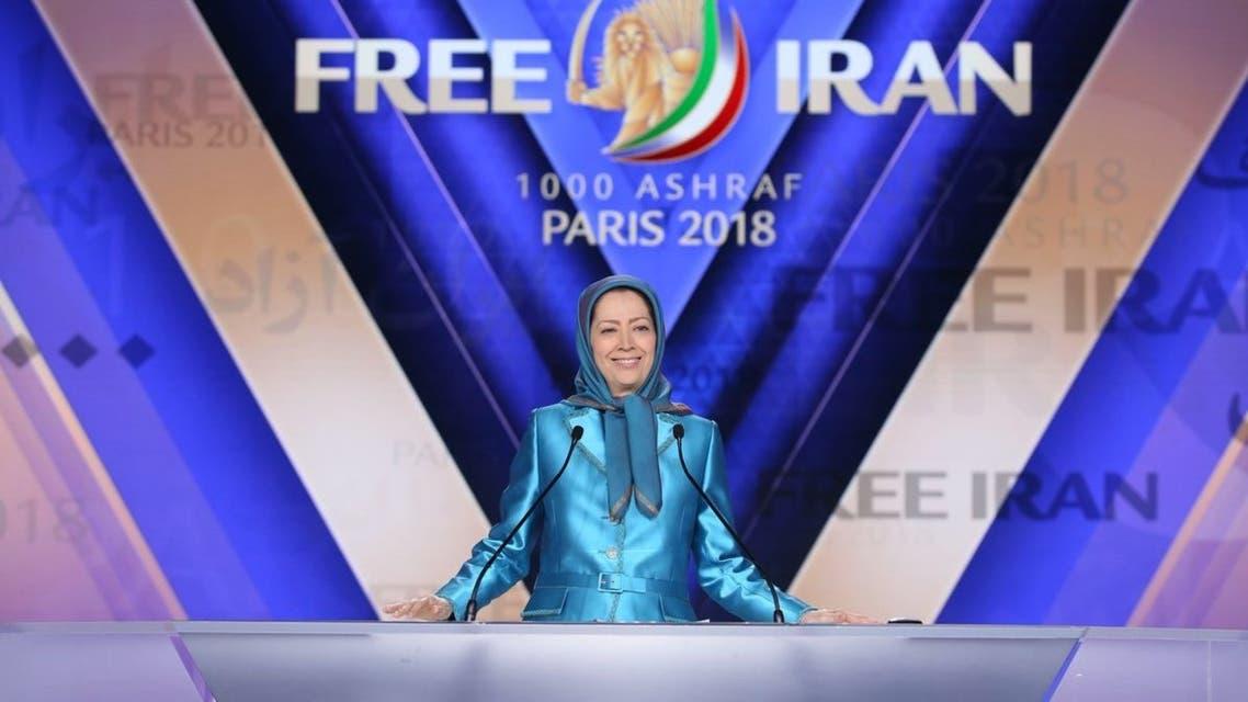 مريم رجوي اثناد كلمتها أمام مؤتمر المعارضة الايرانية في باريس