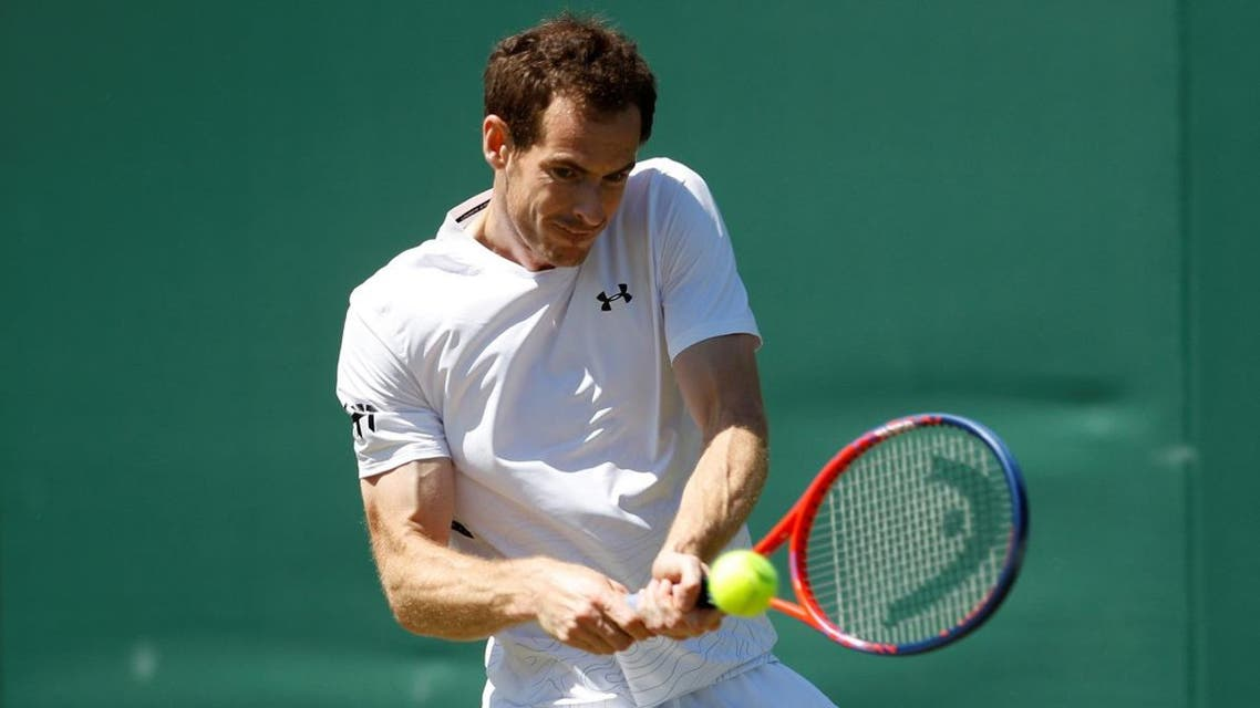 Britain's Andy Murray during practice. (Reuters)