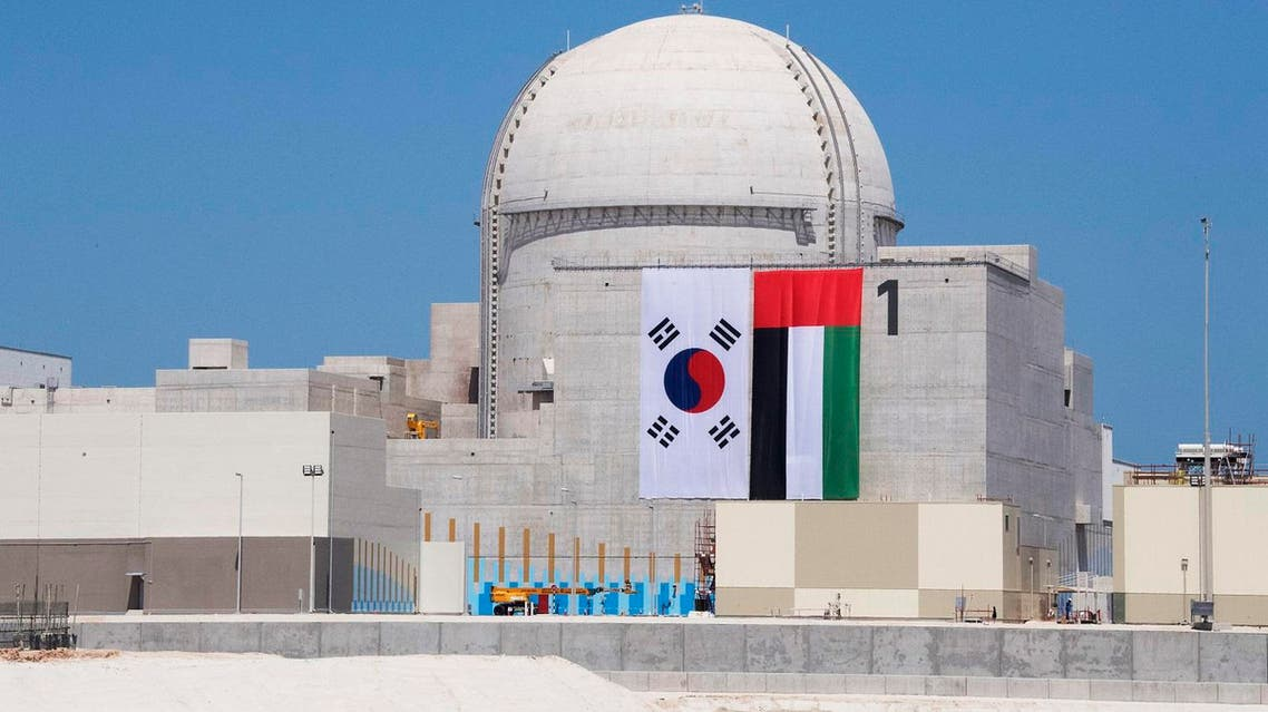The first unit at the Barakah Nuclear Energy Plant in Al-Dafrah in Abu Dhabi, UAE. (WAM/AFP)