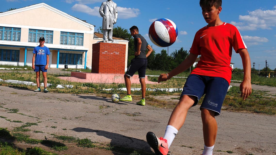 Dimitri Strazhkov dreams about becoming a professional player with CSKA Moscow and one day being called up to play for Russia's national team. The 15 year-old and other boys of all ages train every day at a small soccer field in the village of Aleksandrovka that was built only five years ago. (Reuters)