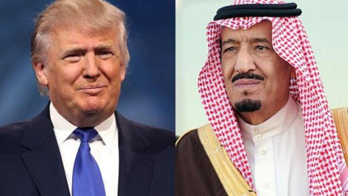 trump king salman saudi arabia. (Supplied)