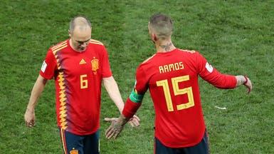 إنييستا يعلن نهاية مشواره مع إسبانيا عقب خسارة روسيا