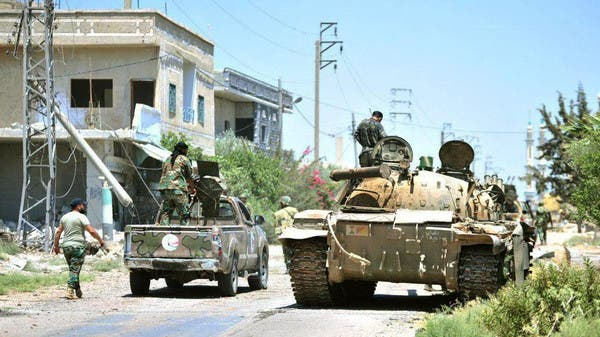عناصر من قوات النظام جنوب درعا (أرشيفية)