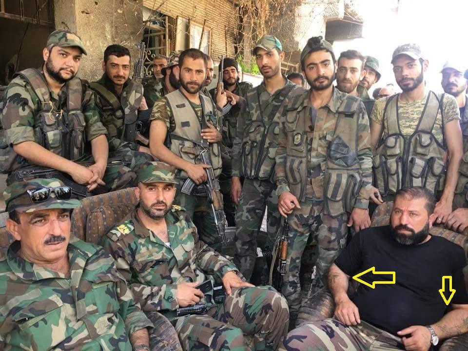 قائد أبي الفضل العباس وضباط من جيش النظام السوري