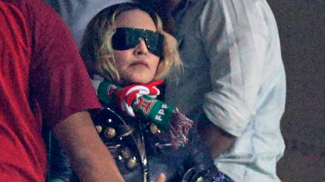 Madonna attends the World Cup 2018 football qualifier between Portugal and Switzerland in Lisbon on October 10, 2017. (File photo: AFP)