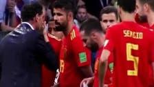 فيديو.. كوستا يحذر مدرب إسبانيا من ضربة جزاء ضائعة